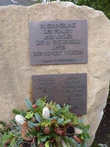 Gedenkstein Friedhof Klein-Fredenbeck im Landkreis Stade