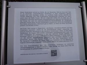 Informationstafel Friedhof Klein-Fredenbeck im Landkreis Stade