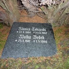 Friedhof Hollern-Twielenfleth, Namensstein liegt nicht bei den Gräbern