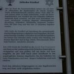 Informationstafel jüdischer Friedhof Stade