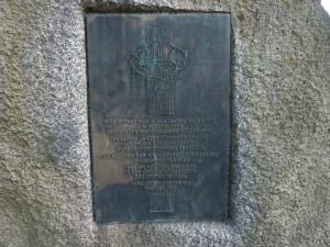 Gedenkstein für jüdische Zwangsarbeiterinnen