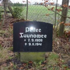 Friedhof Burweg-Bossel, falscher Name auf Gedenkstein, Grabstätte von Petr Filimonow